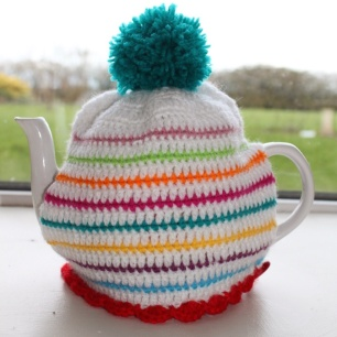 Rainbow Stripy Tea Cosy | MyCraftyMusings