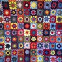 Patchwork Granny Square Blanket | MyCraftyMusings