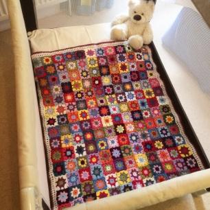 Granny Sqaure Baby Blanket | MyCraftyMusings