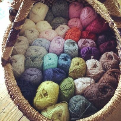 Basket of Wool | MyCraftyMusings