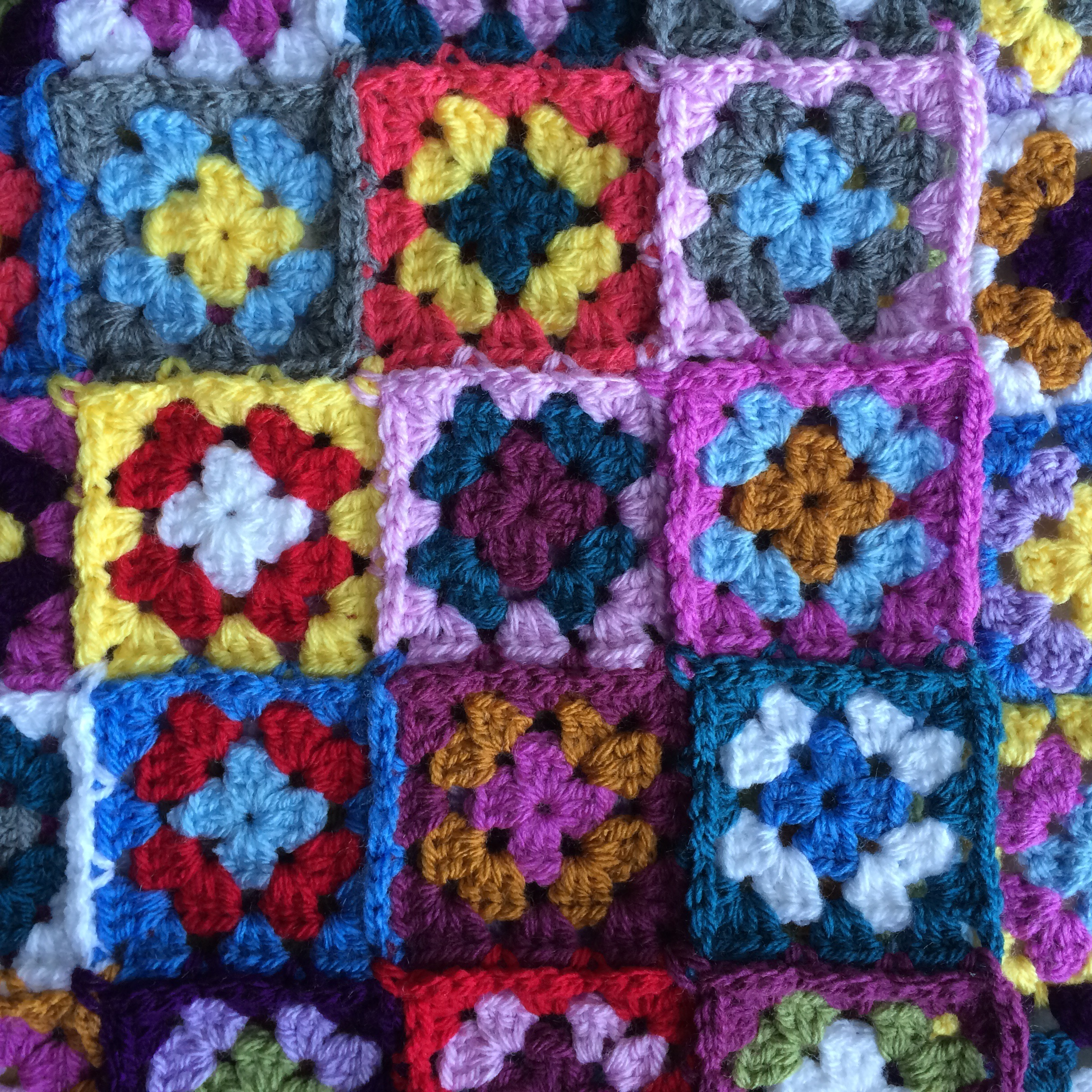 Granny Square Close Up | MyCraftyMusings