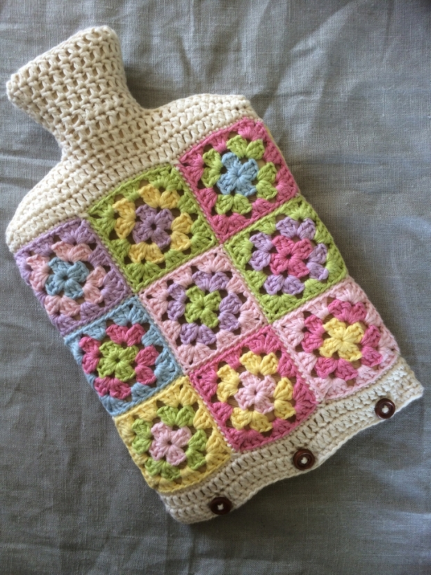Hot Water Bottle Cover Pastel | MyCraftyMusings