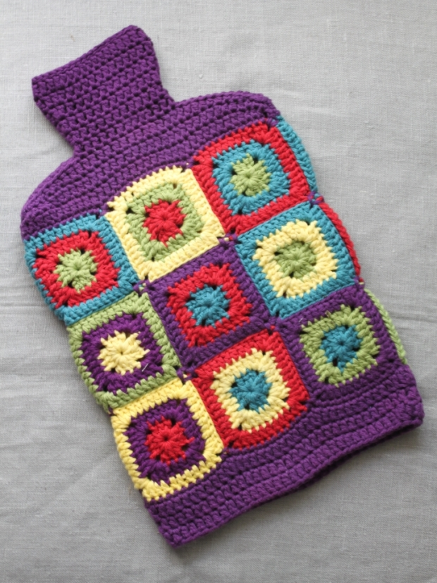 Hot Water Bottle Cover Purple | MyCraftyMusings