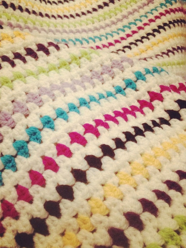 Diamond Granny Stripe Blanket | MyCraftyMusings