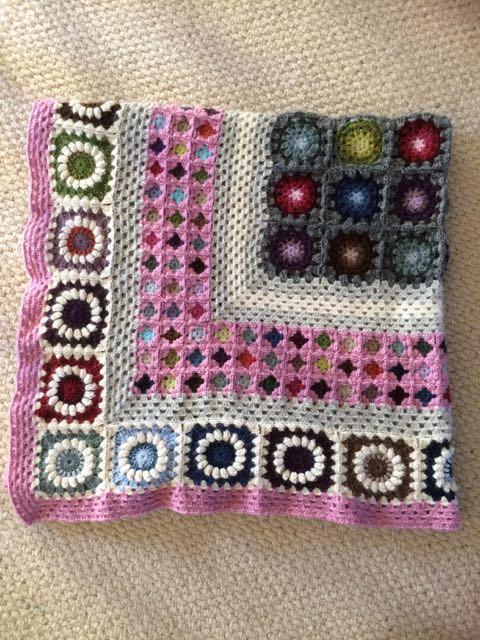 Mixed Granny Square Crochet Blanket   MyCraftyMusings
