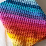 Rainbow Corner to Corner Blanket