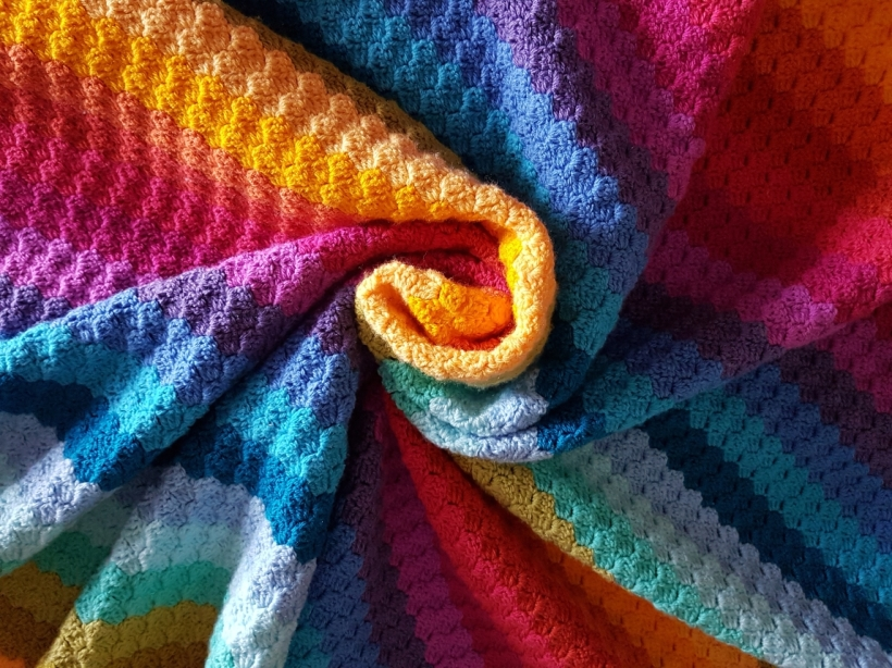 Rainbow Crochet Corner to Corner Blanket | My Crafty Musings