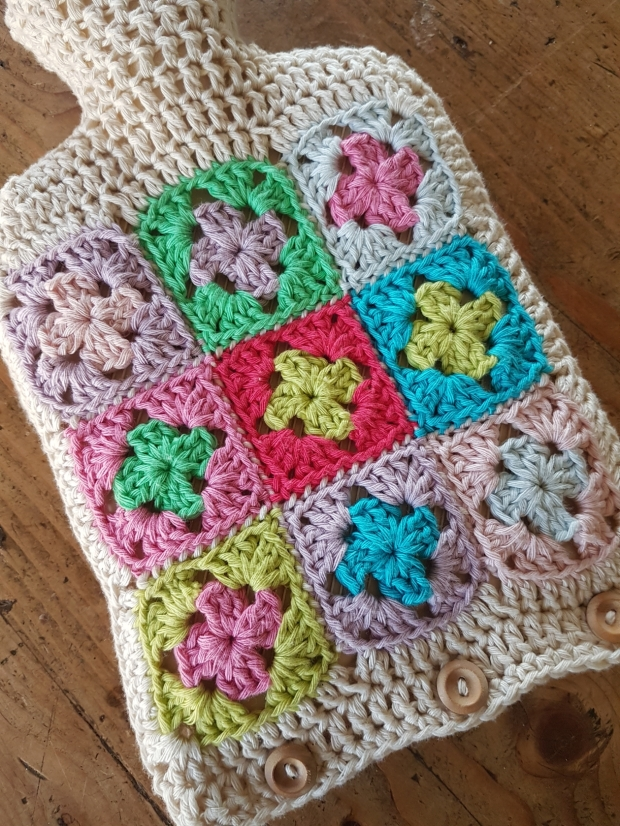 Crochet Hot Water Bottle Cover | MyCraftyMusings