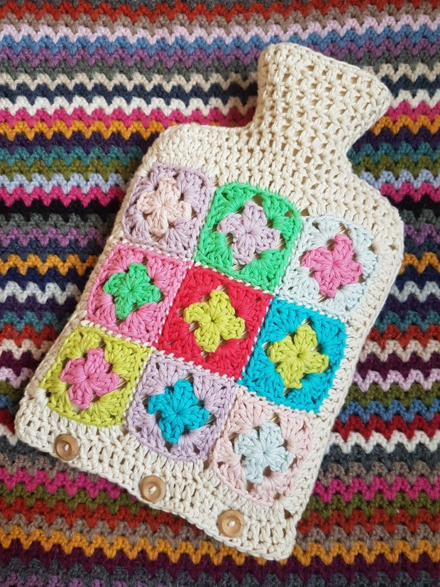 Crochet Mini Hot Water Bottle Cover My Crafty Musings