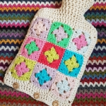 Pastel Crochet Hot Water Bottle Cover | My Crafty Musings